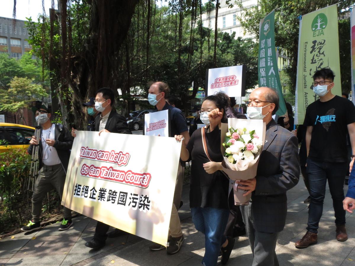 被告代表團體由高等法院遊行至最高法院